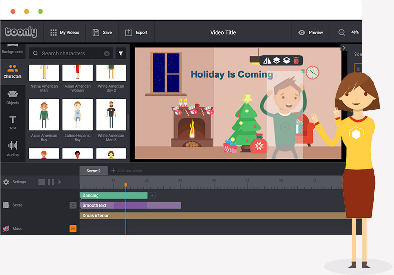 Toonly - Easily Create Animated Explainer Videos In Minutes!